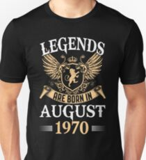 Legends Kings Are Born In August 1970 T-Shirt