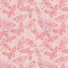 Butterfly Pattern soft pink pastel by artsandsoul