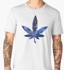 Cannabis leaf sticker - blue universe Men's Premium T-Shirt