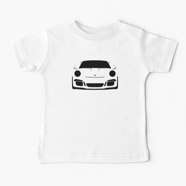 Porsche GT3 RS Silhouette - White/Lava Baby T-Shirt
