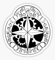 Steampunk compass Sticker