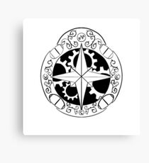 Steampunk compass Canvas Print