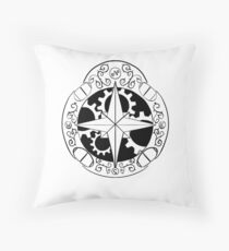 Steampunk compass Throw Pillow