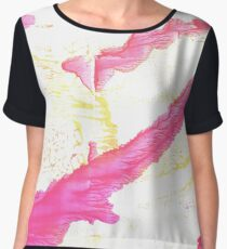 Brilliant rose abstract watercolor background Women's Chiffon Top