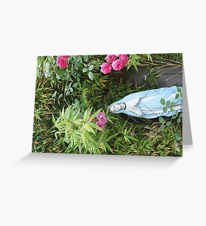 Mother  - Daily walkers enjoy a moment of prayer - peaceful reminder -  Greeting Card