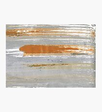 Quick Silver abstract watercolor background Photographic Print