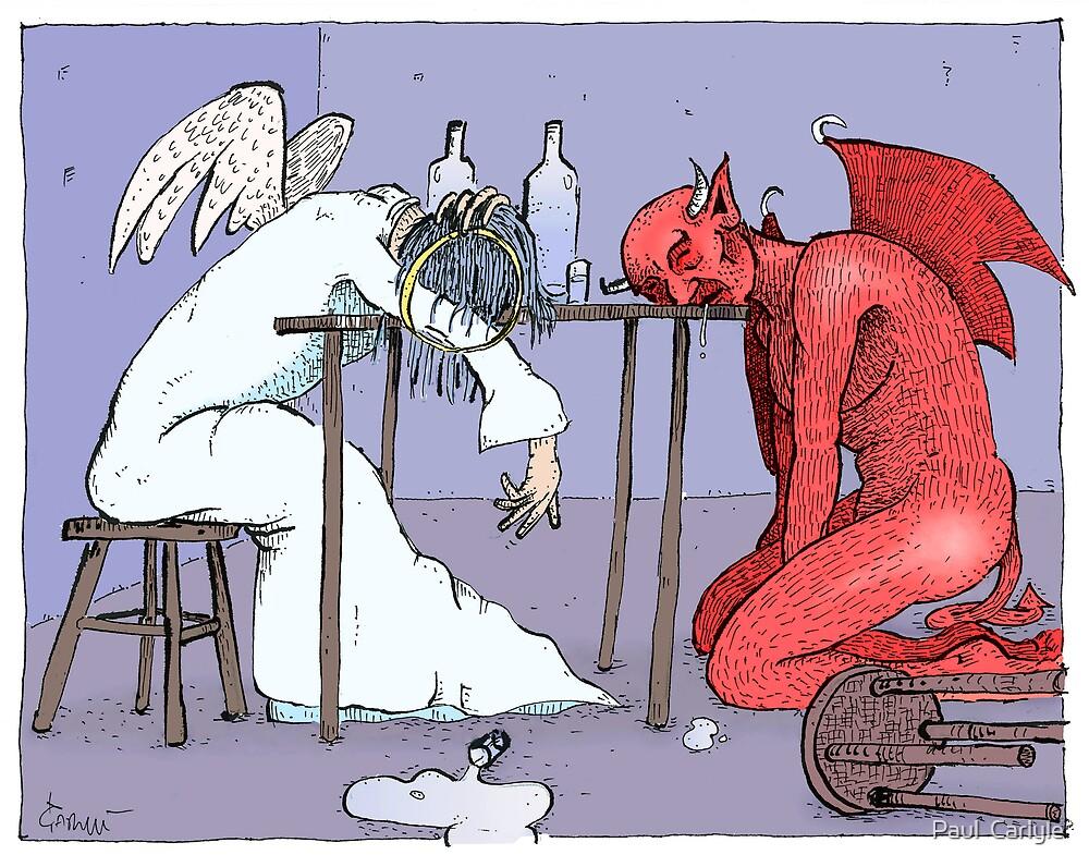 Conversation (colour) by Paul  Carlyle