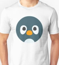 Cute Cartoon Penguin Face T-Shirt