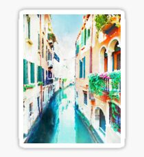 Venice (Italy) in watercolor Sticker