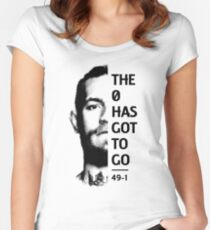 """THE """"0"""" HAS GOT TO GO Women's Fitted Scoop T-Shirt"""