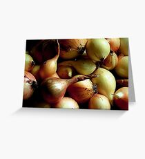 Onions  Greeting Card