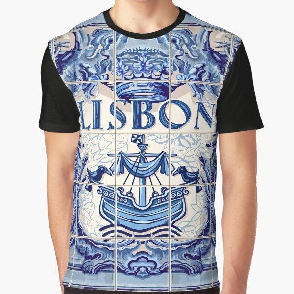 Portugal Lisbon Lisboa Azulejo Azulejos Tiles Graphic T-Shirt