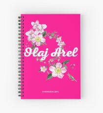 Olaj Arel Flores 2 Spiral Notebook