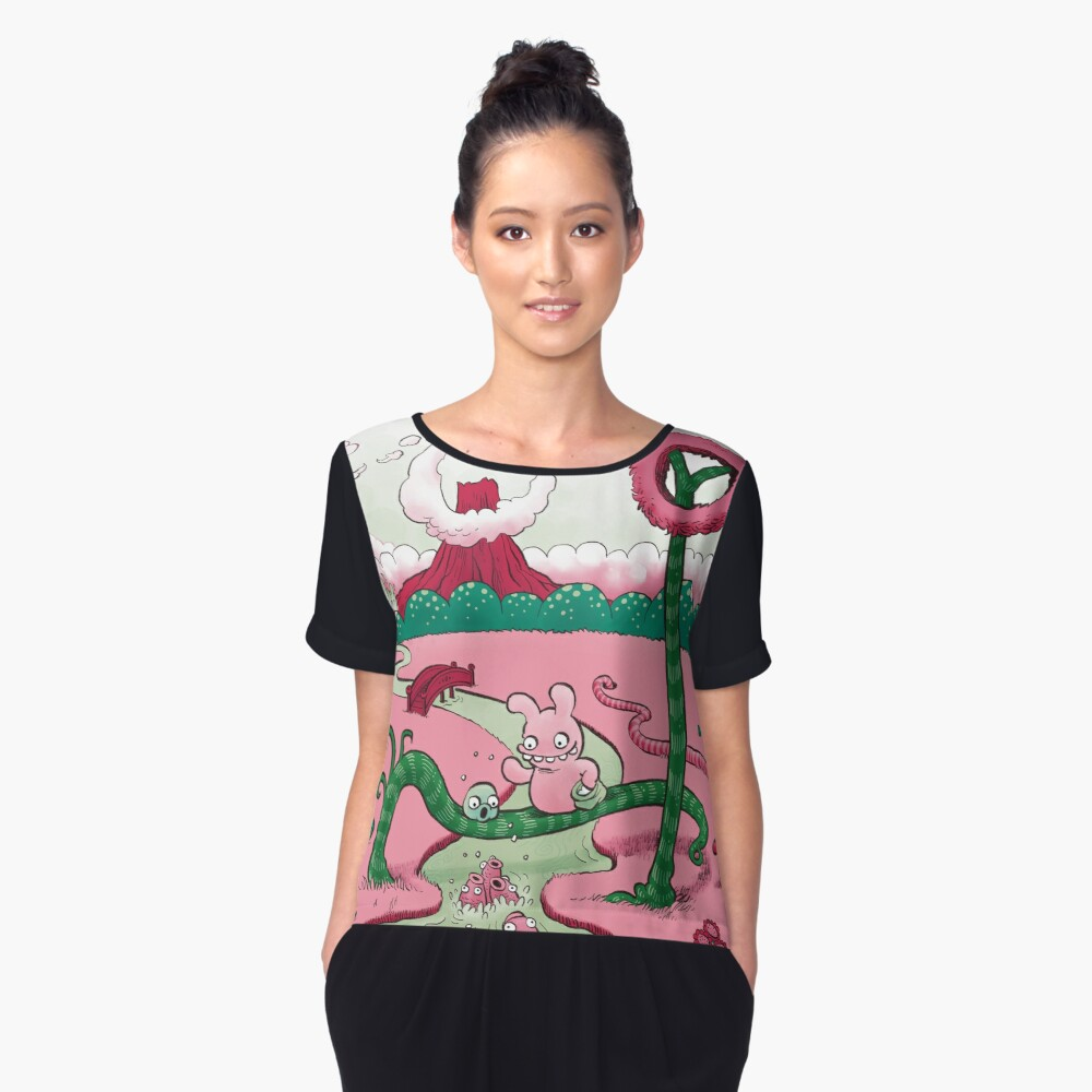 Tobias and Jube and Fish Women's Chiffon Top Front