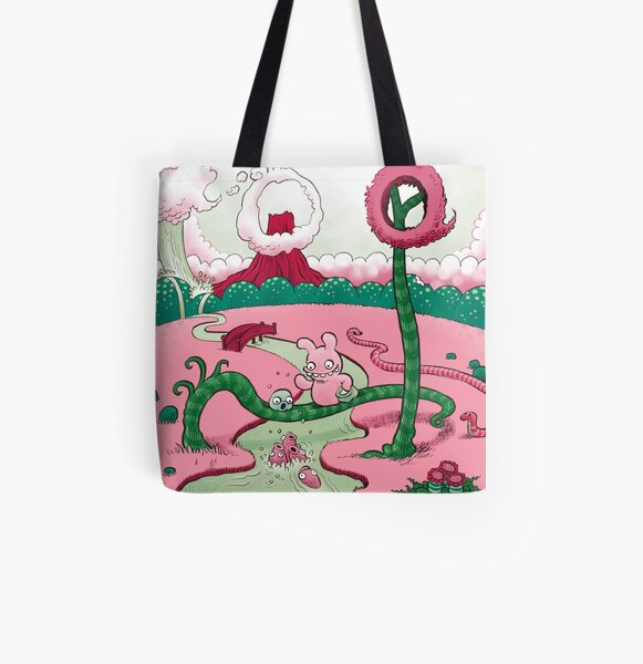 Tobias and Jube and Fish All Over Print Tote Bag