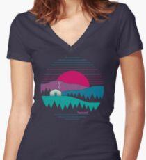 Zurück zum Wesentlichen Tailliertes T-Shirt mit V-Ausschnitt