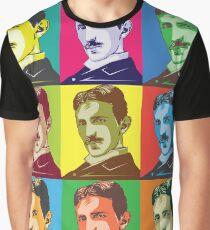 Nikola Tesla Pop Art Graphic T-Shirt