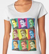 Nikola Tesla Pop Art Women's Premium T-Shirt