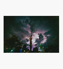 Sparks Over Reunion Tower Photographic Print