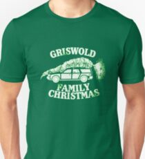 A Griswold Family Christmas - White on Green Unisex T-Shirt