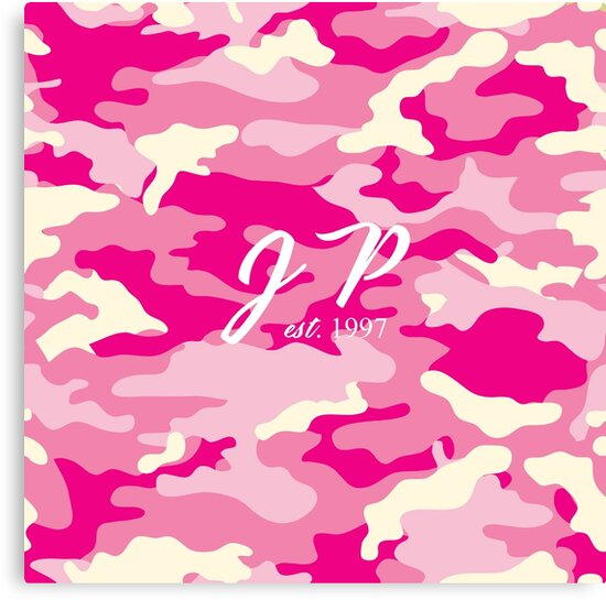 Jake Paul Camo Pink Canvas
