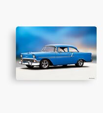 1956 Chevrolet Bel Air 'Mild Street' Canvas Print