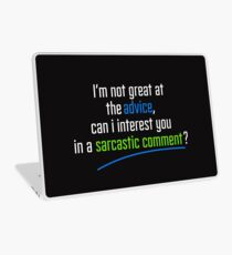 Can I interest you in a sarcastic comment? - Chandler Quote Laptop Skin
