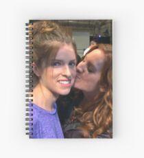 Sendrick Kiss - Anna Kendrick and Brittany Snow Spiral Notebook