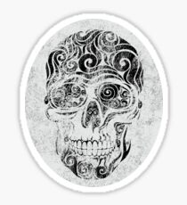 Swirly Skull Sticker