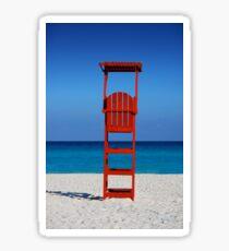 Beach Chair by Jobe Waters Sticker