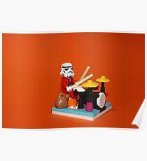 Stormtrooper plays drum Poster