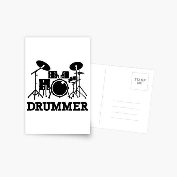 Drummer drums Postcard