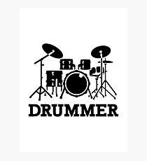 Drummer drums Photographic Print