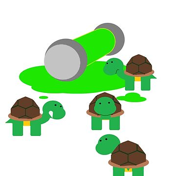 Turtles in goo by aws85