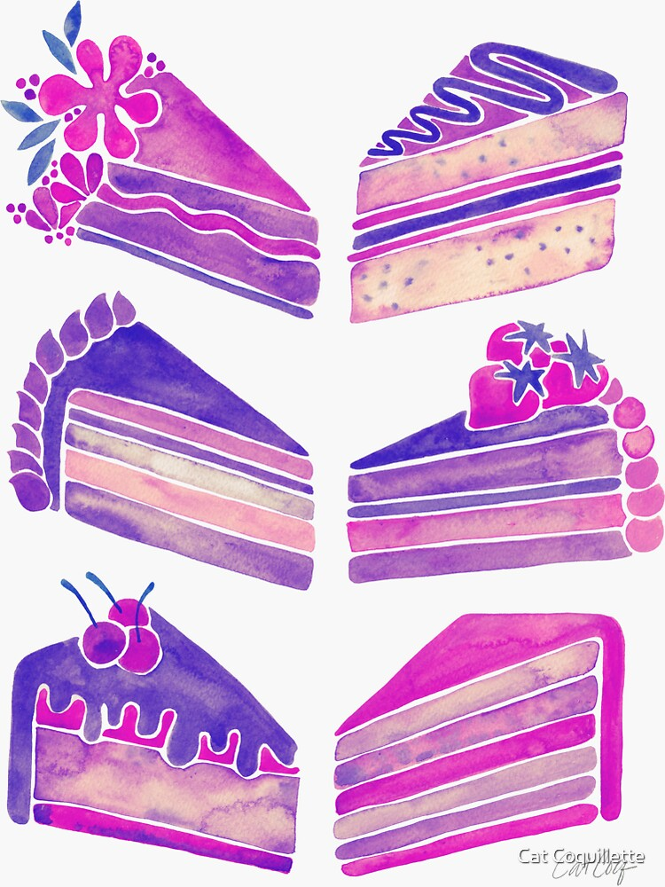 Cake Slices - Unicorn Palette de catcoq