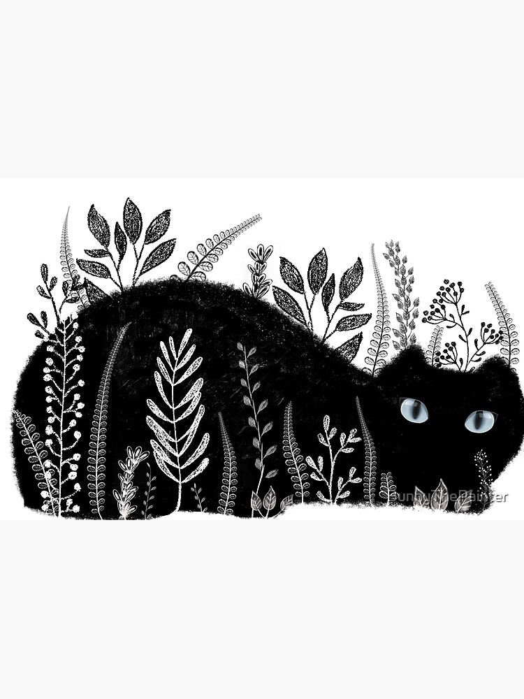 Garden Cat in Black and White by BunnyThePainter