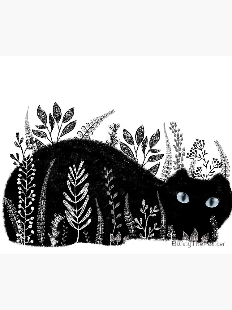 Garden Cat in Black and White by BunnyThePainter