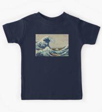 Hokusai, Große Welle vor Kanagawa, Sechsunddreißig Ansichten des Berges Fuji, nein. 21. Japan, Japanisch, Holzblock, Druck. Kinder T-Shirt
