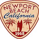 NEWPORT BEACH California Surfer Surfing Surfboard Ocean Beach Vacation by MyHandmadeSigns