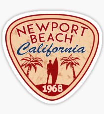 NEWPORT BEACH California Surfer Surfing Surfboard Ocean Beach Vacation Sticker