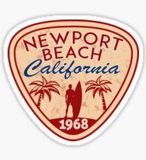 NEWPORT BEACH California Surfer Surfing Surfboard Ocean Beach Vacation Sticker