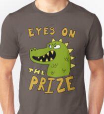 Eyes on the prize dinosaur Slim Fit T-Shirt