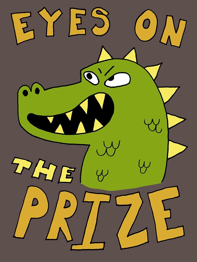 Eyes on the prize dinosaur | Unisex T-Shirt