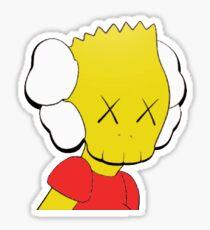 Kaws Companion Bart Simpson Sticker Sticker