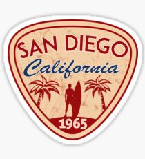 San Diego California Surfing Surf Surfer Surfboard Ocean Beach Sticker