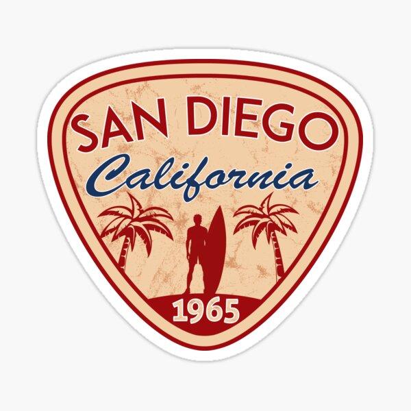 San Diego California Surfing Surf Surfer Surfboard Ocean Beach Sticker
