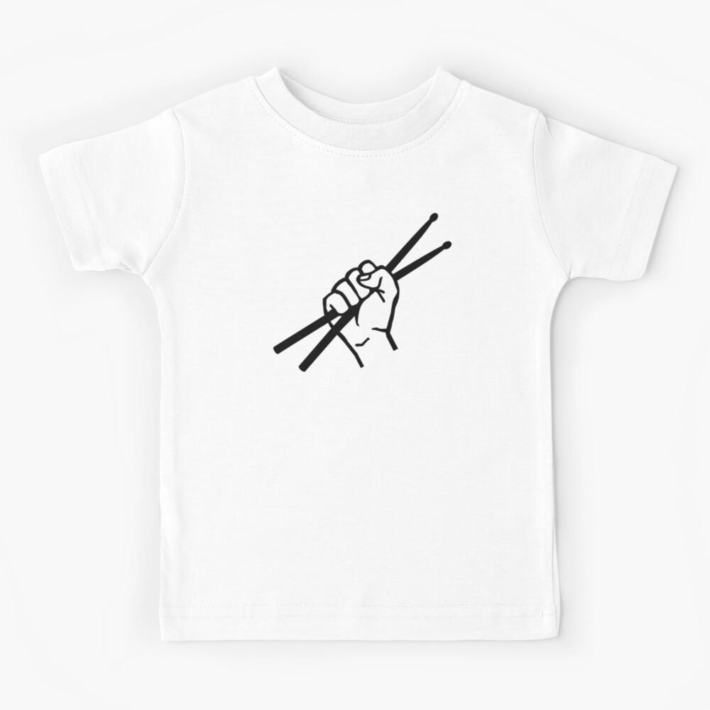 Drummer drumsticks Kids T-Shirt