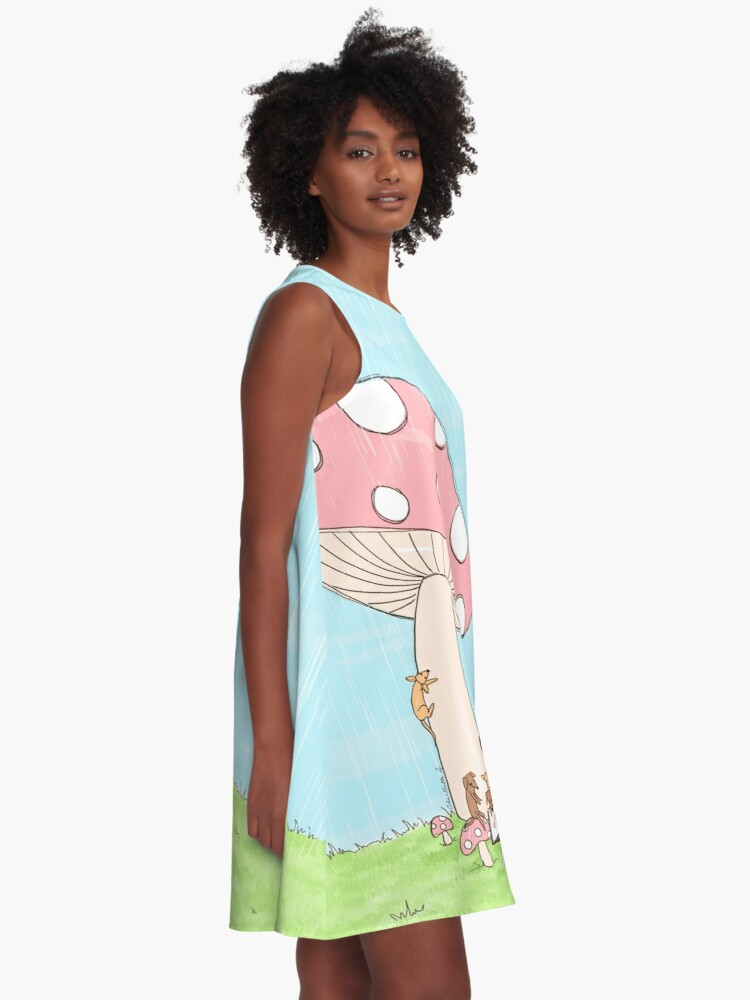 Alternate view of Under The Mushroom A-Line Dress