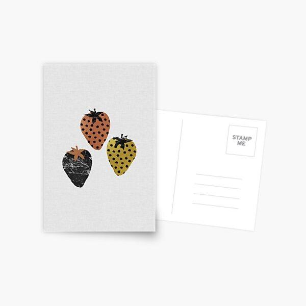 Scandinavian Strawberries Postcard