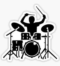 Band drummer Sticker